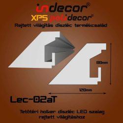 Lec-02AT Tetőtéri rejtett világítás díszléc 80x120 (02/A-T)