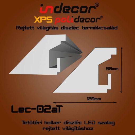 Indecor® Lec-02AT Tetőtéri rejtett világítás díszléc 80x120 (02/A-T)