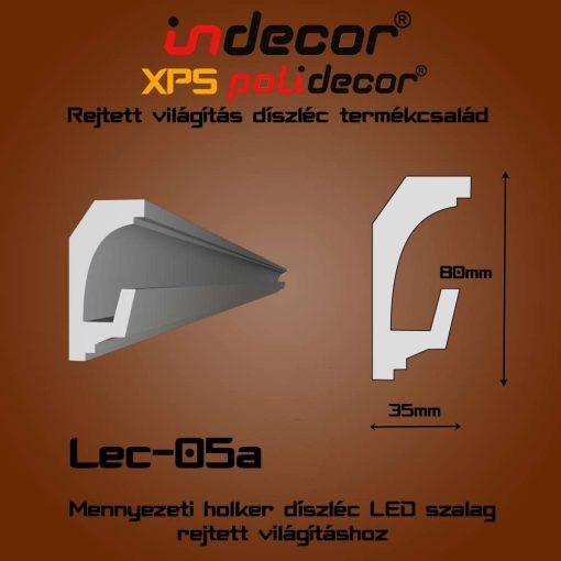 Indecor® Lec-05A Mennyezeti rejtett világítás díszléc