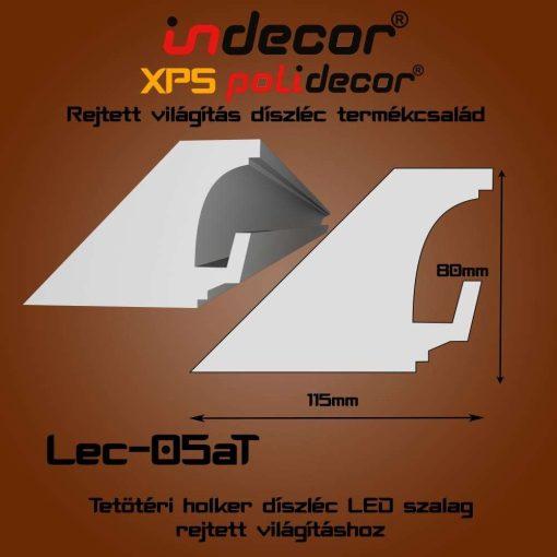 Indecor® Lec-05AT Tetőtéri rejtett világítás díszléc 80x115 (05/A-T)