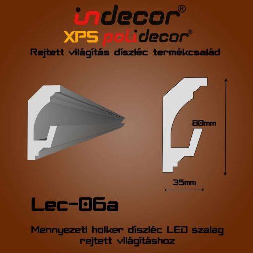Indecor® Lec-06A Mennyezeti rejtett világítás díszléc