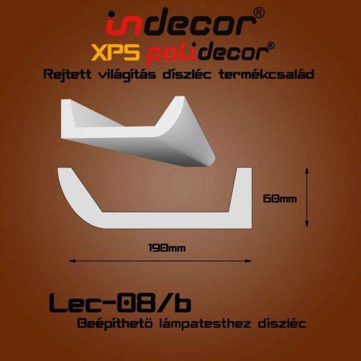Indecor® Lec-08-B Beépíthető lámpatesthez díszléc