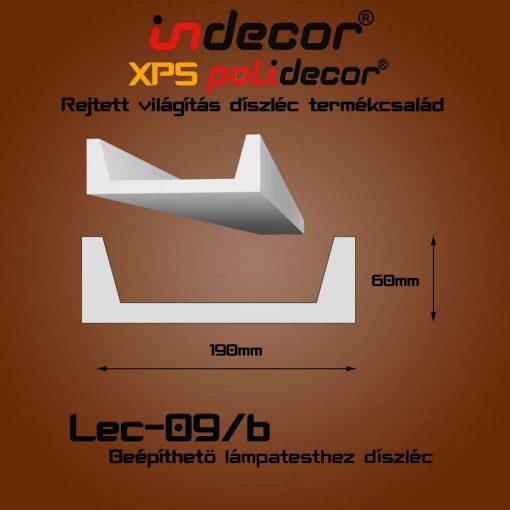 Indecor® Lec-09-B Beépíthető lámpatesthez díszléc