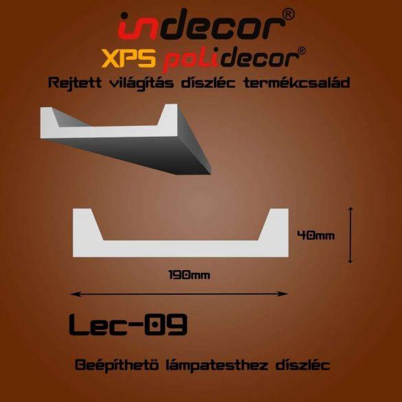 Indecor® Lec-09 Beépíthető lámpatesthez díszléc