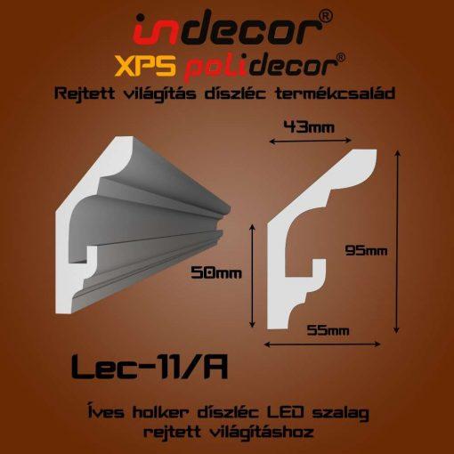 Indecor® Lec-11A Rejtett világítás díszléc