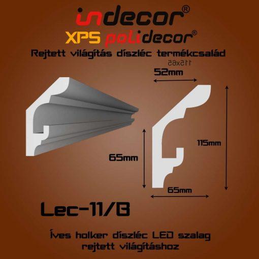 Indecor® Lec-11B Rejtett világítás díszléc