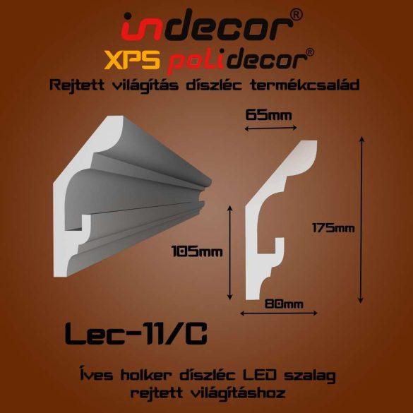 Indecor® Lec-11C Rejtett világítás díszléc