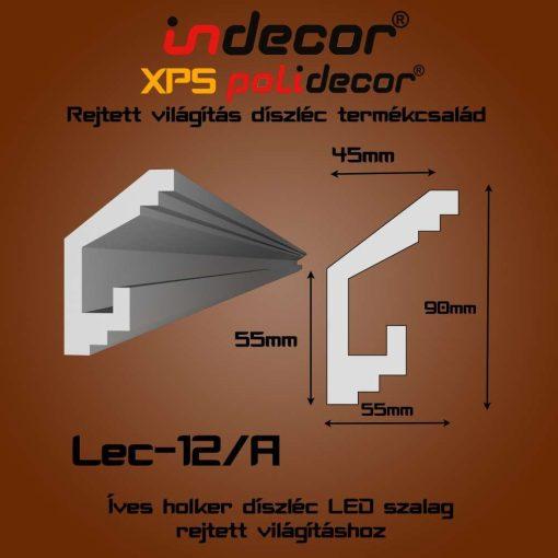 Indecor® Lec-12A Rejtett világítás díszléc