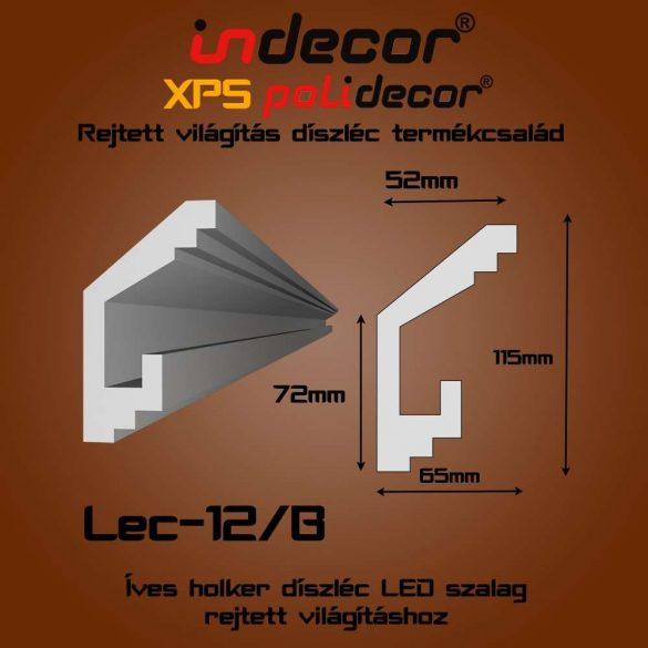 Indecor® Lec-12B Rejtett világítás díszléc