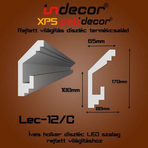 Indecor® Lec-12C Rejtett világítás díszléc