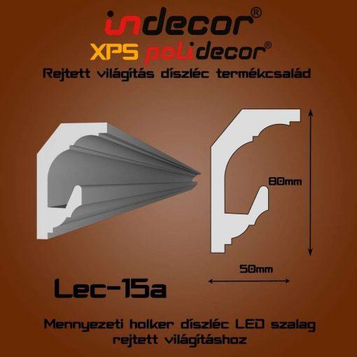 Indecor® Lec-15A Mennyezeti rejtett világítás díszléc