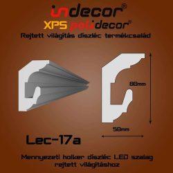 Lec-17A Mennyezeti rejtett világítás díszléc