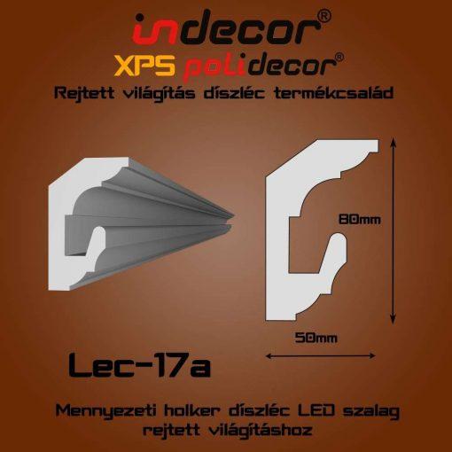 Indecor® Lec-17A Mennyezeti rejtett világítás díszléc