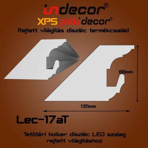 Indecor® Lec-17AT Tetőtéri rejtett világítás díszléc 80x135 (17/A-T)