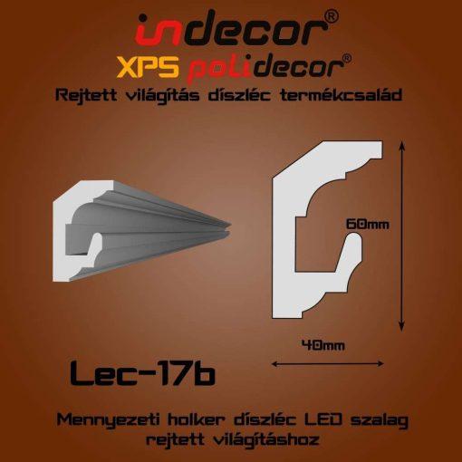 Indecor® Lec-17B Mennyezeti rejtett világítás díszléc