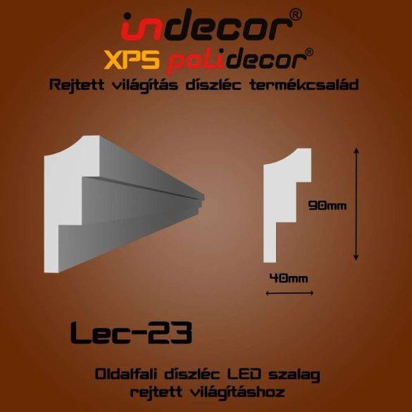 Indecor® Lec-23 Oldalfali rejtett világítás díszléc