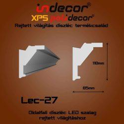 Lec-27 Oldalfali rejtett világítás díszléc