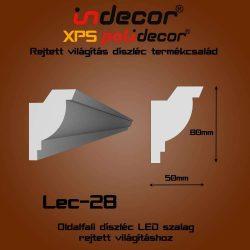 Lec-28 Oldalfali rejtett világítás díszléc