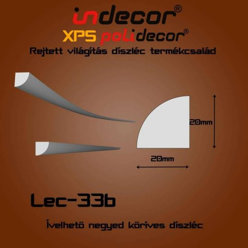 Indecor® Lec-33B  Ívelhető 20x20mm