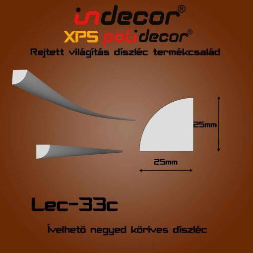 Indecor® Lec-33C Ívelhető 25x25mm