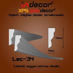 Lec-34 mintás 45x15mm