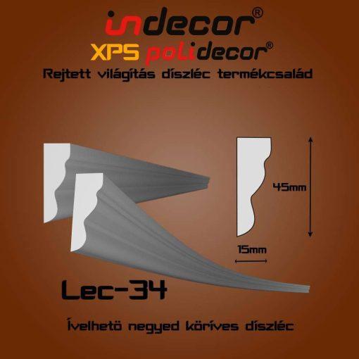 Indecor® Lec-34 mintás 45x15mm