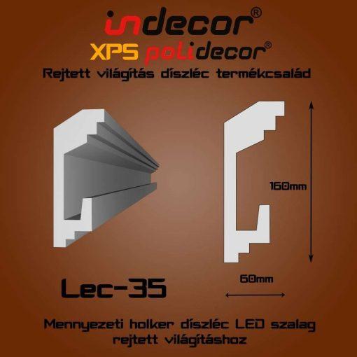 Indecor® Lec-35 Mennyezeti rejtett világítás díszléc