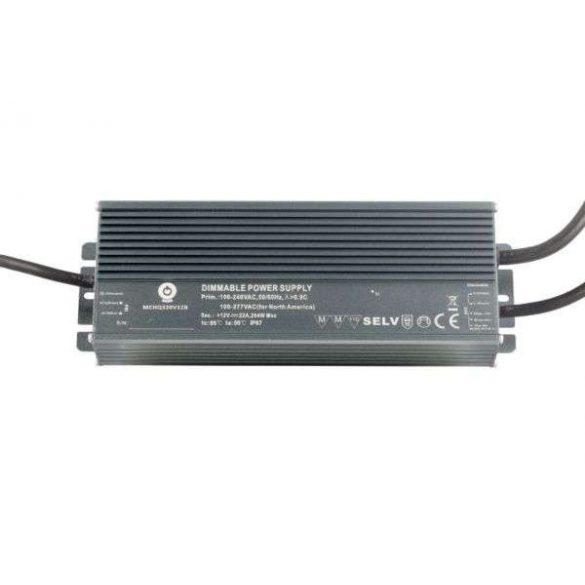 POS Led tápegység MCHQB-320-24 312W 24V 13A IP67 dimmelhető