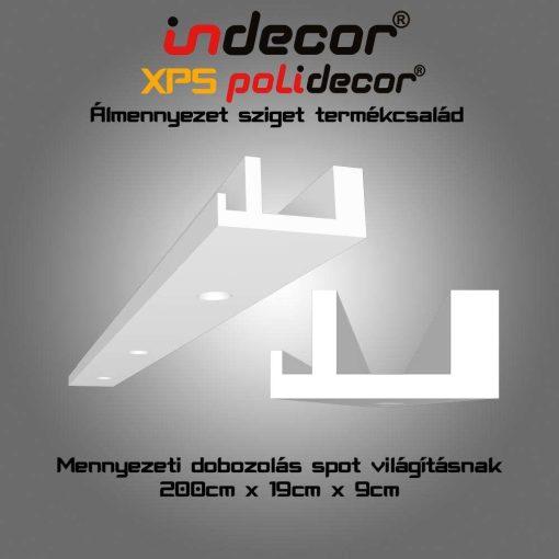 Indecor® MD-2-19  XPS Mennyezeti dobozolás