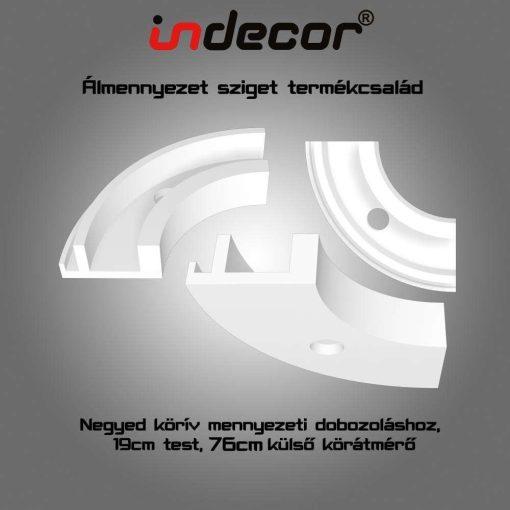 Indecor® MD-NK-19-40  XPS Mennyezeti dobozoláshoz negyed körív