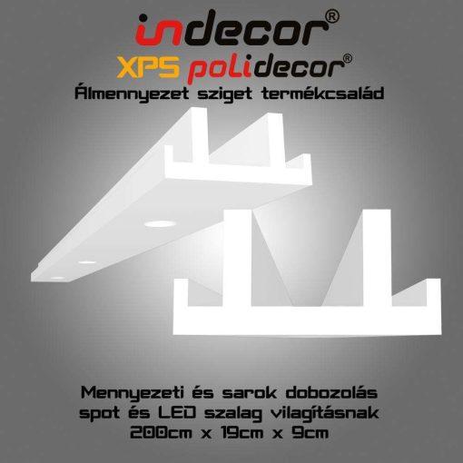 Indecor® MSD-2-19  XPS Mennyezeti és sarok dobozolás