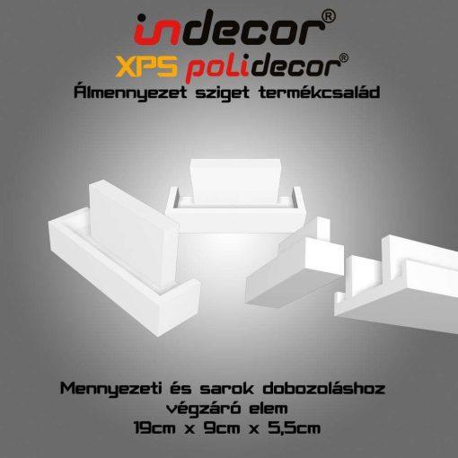 Indecor® MSDV-19 Sarok és mennyezeti dobozolás végzáró elem