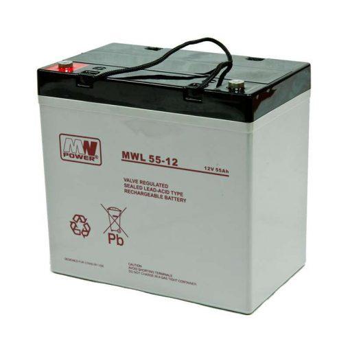 MW Power AGM akkumulátor 55Ah 12V