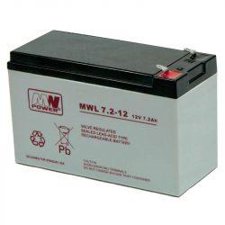 MW Power AGM akkumulátor 7.2Ah 12V