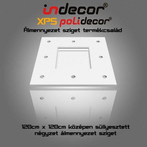 Indecor® N-120 Négyzet álmennyezet sziget