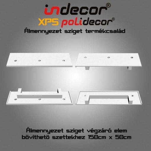 Indecor® N-150-Z-V négyzet álmennyezet sziget elem
