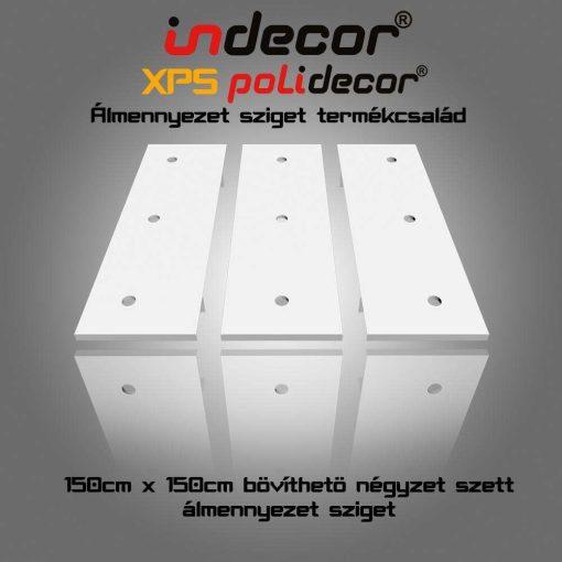 Indecor® N-150-Z Négyzet álmennyezet sziget