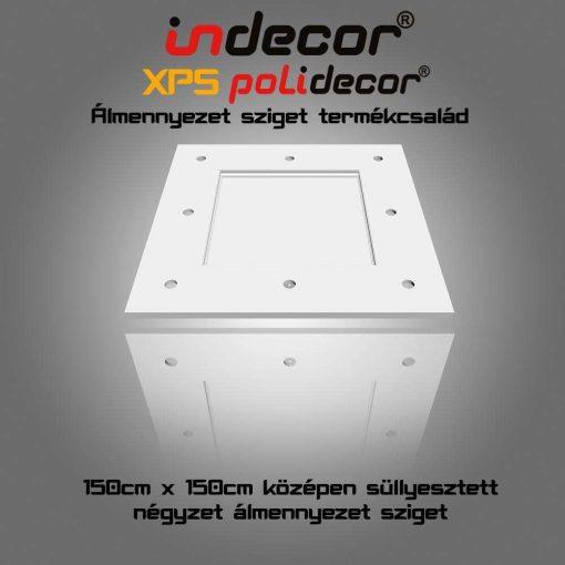 Indecor® N-150 Négyzet álmennyezet sziget