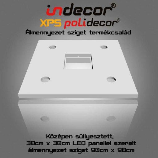 Indecor® N-90-LP-F Négyzet álmennyezet sziget