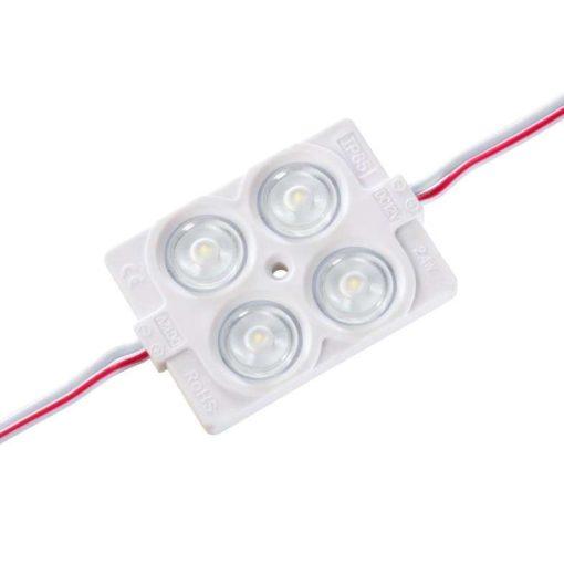 Led Modul 1db 4X2835 led 2.4W sorolható vízálló Hideg fehér