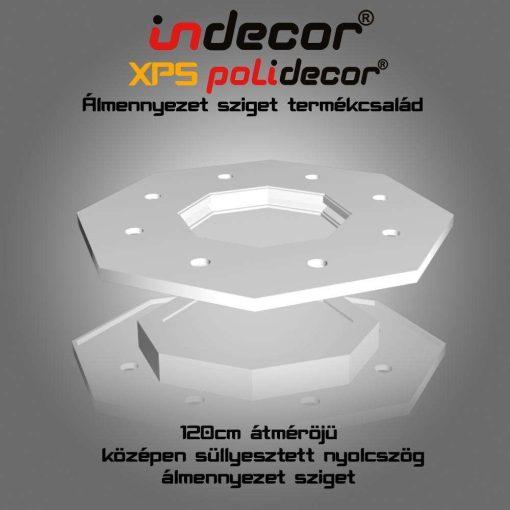 Indecor® NY-120 Nyolcszög álmennyezet sziget