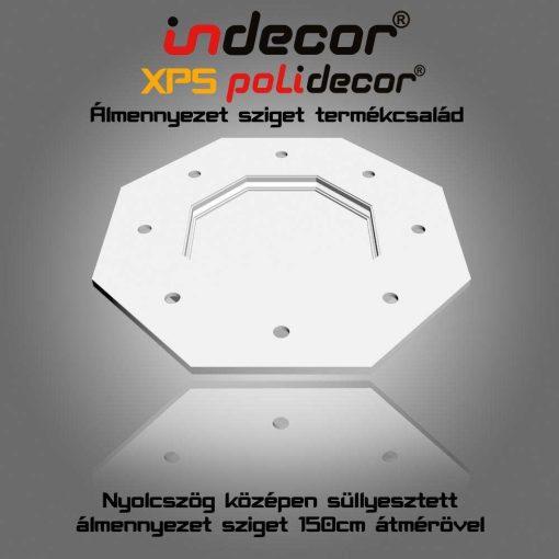 Indecor® NY-150-F Nyolcszög álmennyezet sziget