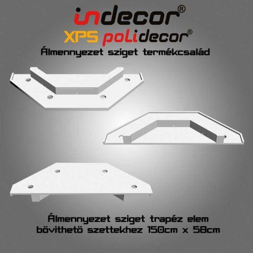 Indecor® NY-150-Z-V Trapéz Elem, 58x150cm