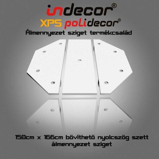 Indecor® NY-150-Z Nyolcszög álmennyezet sziget