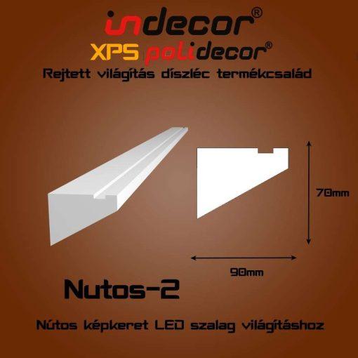 Indecor® Nutos-2 Nútos képkeret - vágott