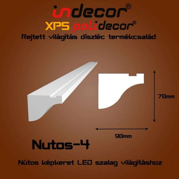 Indecor® Nutos-4 Nútos képkeret - hullámos