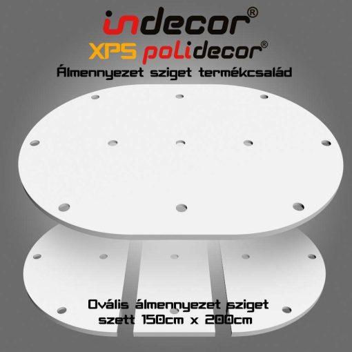 Indecor® O-200x150-Z Ovális álmennyezet sziget