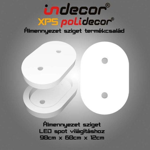 Indecor® O-90x60-FZ Ovál álmennyezet sziget