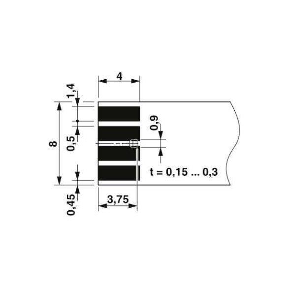 NYÁK csatlakozó - PTF 0,3/ 2-WB-8-H