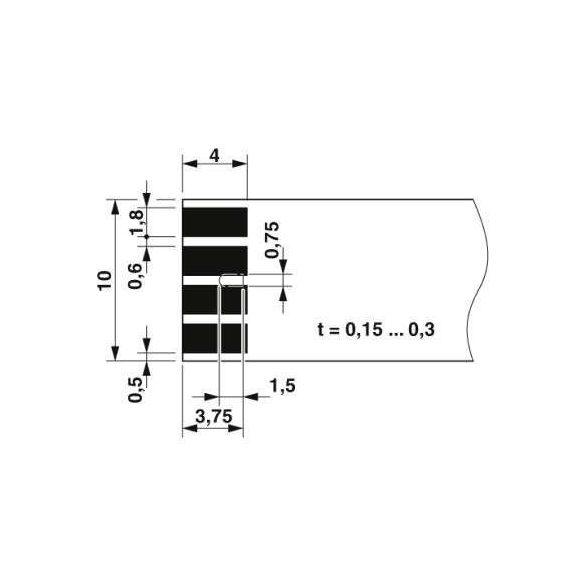 NYÁK csatlakozó - PTF 0,3/ 2-WB-10-H